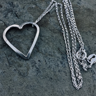 Sterling Silver Heart Pendant - UK Free Post