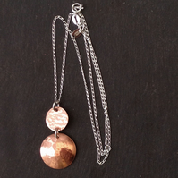 Handmade Copper Pendant Necklace - UK Free Post