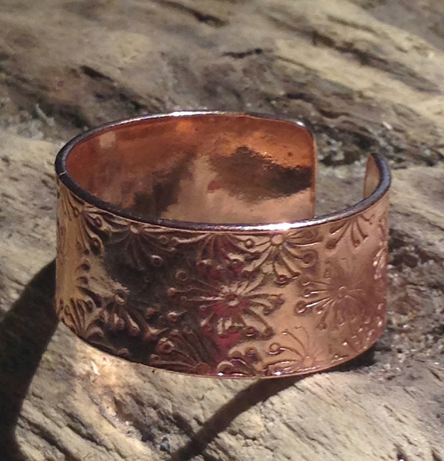 Handmade Open Copper Ring - UK Free Post