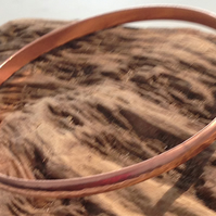 Hand Crafted Hammered Copper Bangle