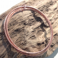 Hand Crafted Copper Bangle Trio - UK Free Post