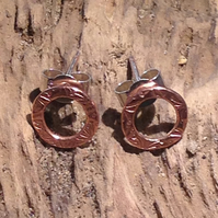 Copper Circular Earrings - UK Free Post