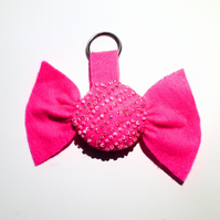 Pink Sweetie Keyring - UK Free Post