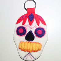 Mexican Sugar Skull Keyring - UK Free Post