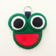 Frog Felt Keyring - UK Free Post