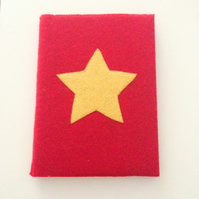 Red and Yellow Star Notebook - UK Free Post