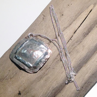 Rustic Copper Pendant Necklace With Sterling Silver Embellishment - UK Free Post
