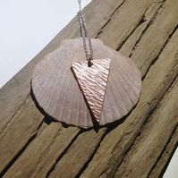 Triangular Copper Pendant Necklace - UK Free Post