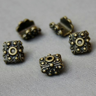 Pack of 10 - Antique Bronze Angular Bead Cap