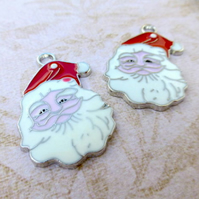 Pack of 4 - Santa Claus Enamelled Charm