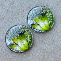 pack of 4 - 30 mm Glass Cabochon Jungle