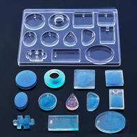 Silicone Resin Mould For Jewellery Making 12 Mixed Shapes