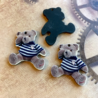 Pack of 5 - Acrylic Pendant Bear in a T-shirt