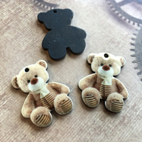 Pack of 5 - Acrylic Pendant Bear with a Scarf