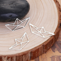 Pack of 5 - Origami Boat Pendant