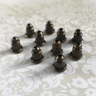 Pack of 100 Brass Earnut Component, Earring Nuts, Bullet Stoppers