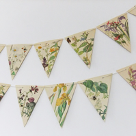 30 feet of Spring and Summer Bunting, Paper Bunting, Wedding Decor