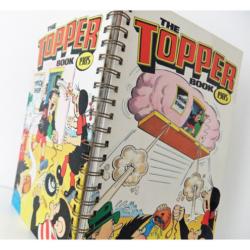 Up-cycled Topper Notebook 1985