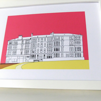 Glasgow Print - art print - home decor - art - Scottish art - Picture of Glasgow