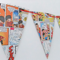 Beano Bunting - paper bunting upcycled from Beano books - Eco-Friendly Bunting