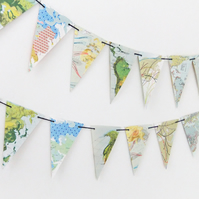 Map Bunting -  Eco-friendly Banner