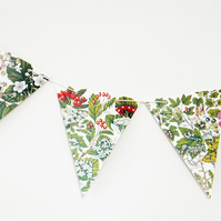 Autumn Bunting, Fall Garland, Berries Bunting, Botanical Bunting, upcycled