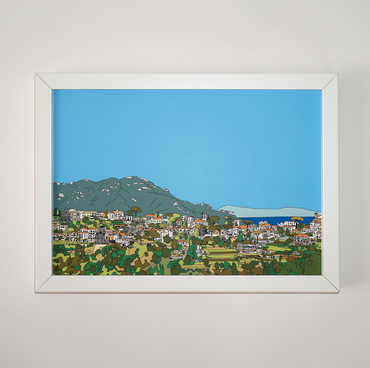 Ravello Picture, Print of Amalfi coast, Italy, Colourful Picture