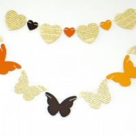 Autumn Butterfly Bunting, Autumn Decor, Home Decor