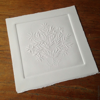 Star Tree, Limited edition blind embossed print, free UK shipping