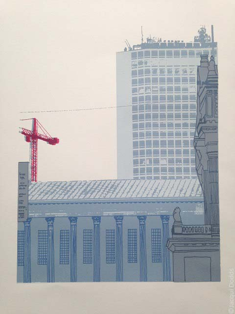 'Town Hall, Alpha Tower, Birmingham' limited edition screen print