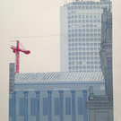 'Town Hall, Alpha Tower, Birmingham'  screenprint, free UK shipping