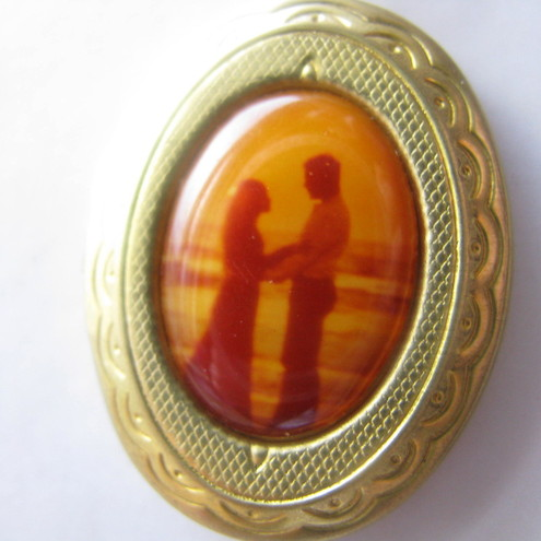 Lovers at Sunset Cameo Locket