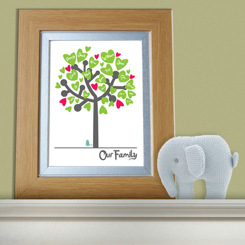 Family Tree Personalised Framed Print
