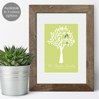 Personalised Family Print - Tree design