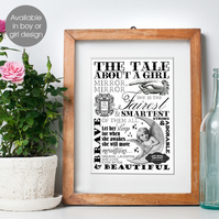 Typographic Word Art Personalised Prints For Boys And Girls