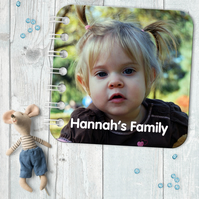 Personalised Baby Board Book, 'Photo' design, handmade toddler baby gift