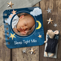 Personalised Baby Board Book, 'Sweet Dreams' design, handmade toddler baby gift