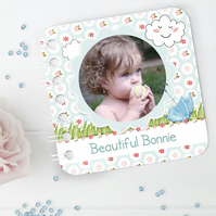 Personalised Baby Board Book, 'Summer's Day' design, handmade toddler baby gift