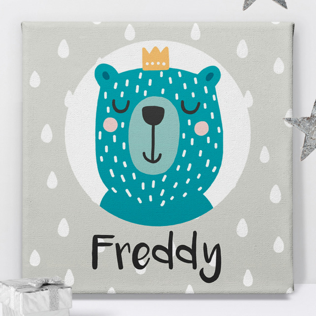 Prince Personalised Canvas Nursery Art