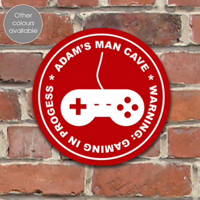 Computer Game personalised wall sign plaque, gift idea for child or teenager
