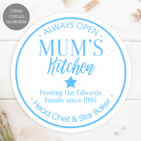Kitchen personalised wall sign plaque, gift idea for keen cook or baker