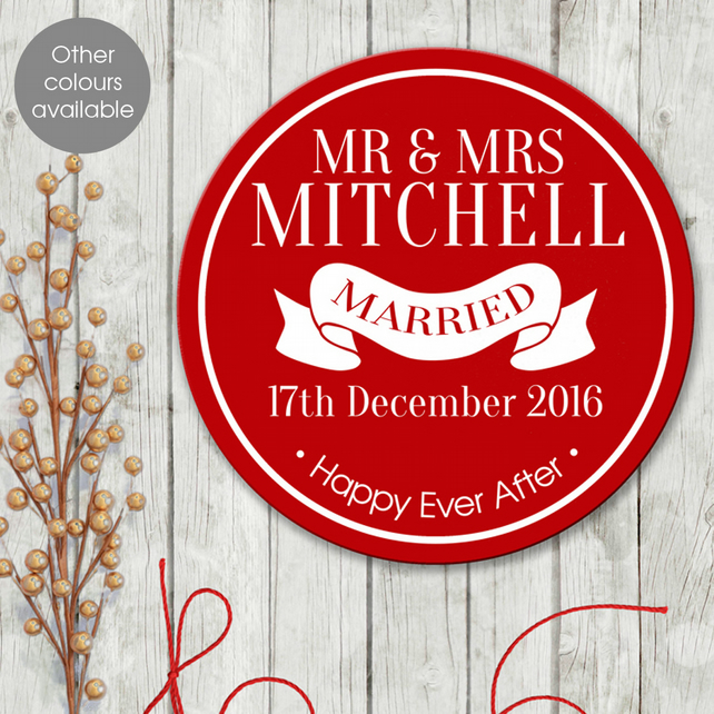 Married personalised wall sign plaque, wedding or anniversary gift idea