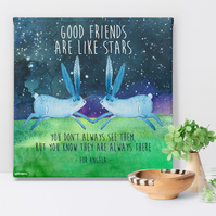 Good Friends Personalised Canvas Art Print