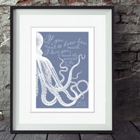Waves in the Sea personalised nautical print, wedding, Valentine or anniversary
