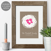 Personalised Family Print - Nest design