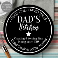 Personalised Kitchen wall sign plaque, gift idea for foodie, cook or baker