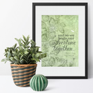 We Begin Our Adventure Together, personalised print wedding gift