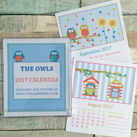 2017 Owl design desk calendar