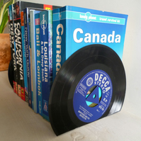 Record Bookends Dads Music Vintage Vinyl Recycled Records Set of Two
