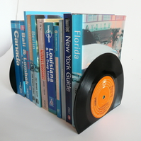 Record Bookends Made From Recycled  Vintage Records